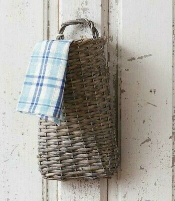 NEW Beautiful Country Farmhouse Large Heavy Duty Hanging Willow Wall Basket
