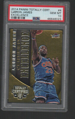 LEBRON JAMES  2014-15 PANINI TOTALLY CERTIFIED EXCELLENCE 4  299 PSA 10