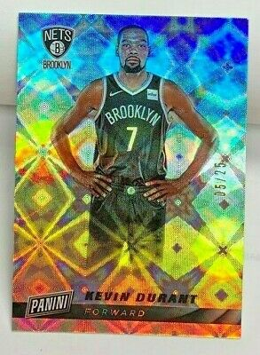 Kevin Durant 2019-20 Panini Cyber Monday GALACTIC Parallel d 525 BROOKLYN NETS
