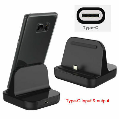 Type-C Dock Charger Charging Desktop USB C 3-1 Cradle Station For Android Phone