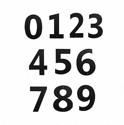 5 Pack 12 Inch Numbers Black Metal Home Business House Street Address Commercial