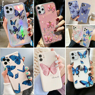 For iPhone 11 Pro Max XXRXs Max 78- SE2 Butterfly Soft Silicone Phone Case