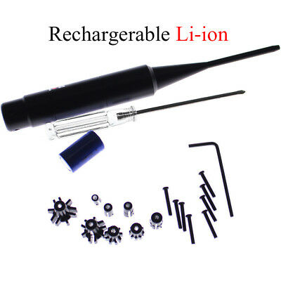 Red Laser Bore Sighter Kit -177 to -50 Caliber Li-ion Battery Boresighter USA
