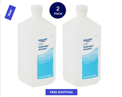 2 Pack Equate 70 Isopropyl Alcohol 32 Oz