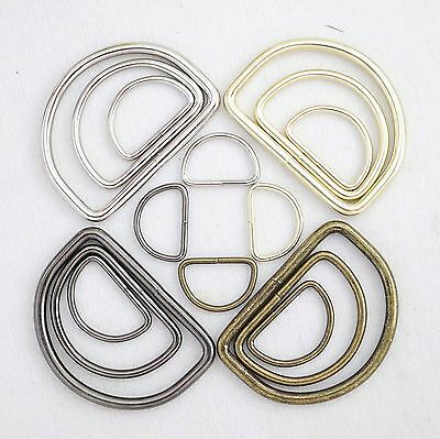Metal D-Ring Welded for strapspursesbagsChoose quantity Size - color usa