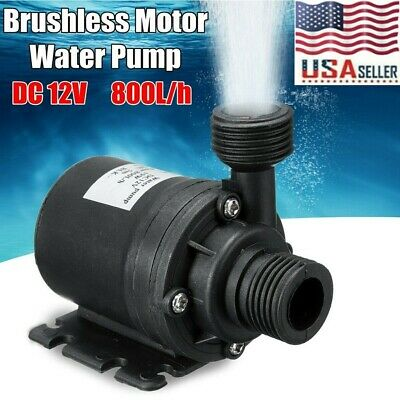 DC 12V Lift 5m 800LH Ultra Quiet Brushless Motor Submersible Pool Water Pump US