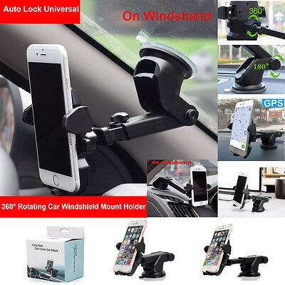 Car 360° Windshield Mount Holder Universal  for Mobile Phone GPS iPhone Samsung