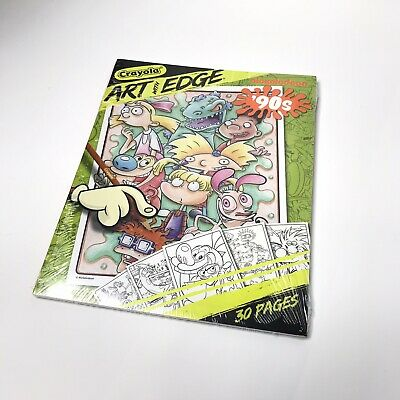 New Sealed Retro 90's Nickelodeon Cartoons Crayola Art with Edge Coloring Pages