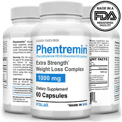 Phentremin® Extra Strength Weight Loss Complex 1000mg Appetite Suppressant 37-5