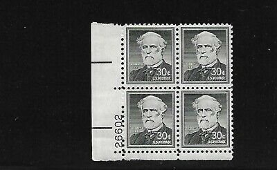 Sc 1049 Robert E- LEE Civil War General Mint U-S- Plate Block MNH