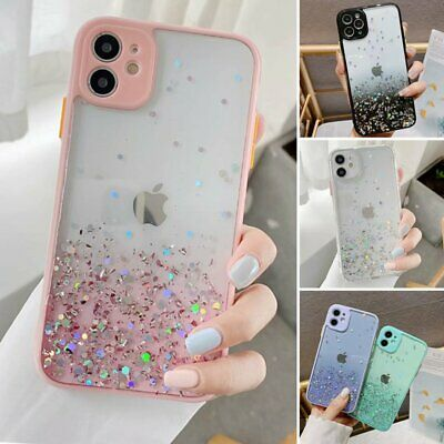For iPhone 11 Pro Max XR XS MAX 8 7- Case Slim Bling Glitter Clear Girly Cover