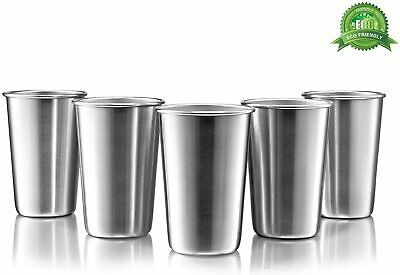 Stainless Steel Pint Cups Set of 5 16 oz BPA free