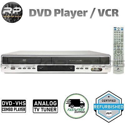 Zenith ZDX-313 DVD VCR Combo Player 4-Head Hi-Fi Stereo With OEM Remote Manual