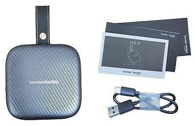 Harman Kardon Neo Portable Belt Clip Waterproof Wireless Bluetooth Speaker Gray