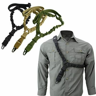 🔥 One Single Point Bungee Rifle Sling Gun Sling Strap with Length Adjuster