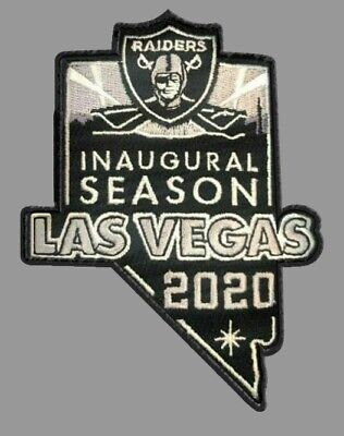 LAS VEGAS RAIDERS PATCH NEW 2020 INAUGURAL SEASON TICKET HOLDER STYLE EMBROIDERY