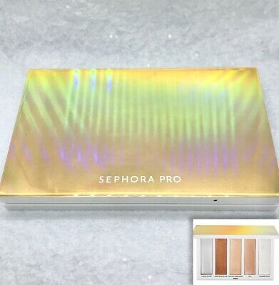SEPHORA PRO Dimensional Highlighting Palette WARM 5 Shades Full Sz