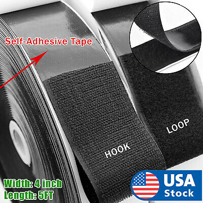 4 inch 5 Feet Self Adhesive Tape Hook and Loop Fastener Extra Sticky Back USA