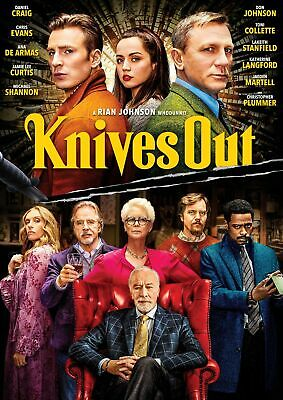 Knives Out DVD Daniel Craig NEW