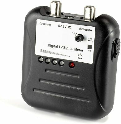 OTA TV Antenna Signal Strength Meter Kit with LED Display and Coaxial Cable