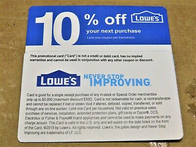 HOME DEPOT - LOWES COMPETITORS COUPON - NOVEMBER 15 2020