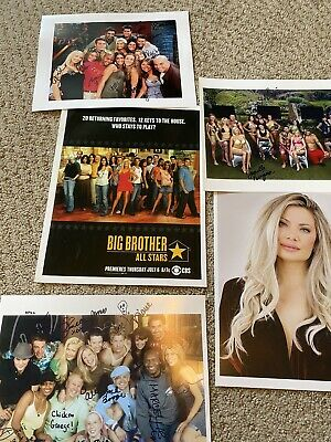 Big Brother All Stars Cast Photos Signed Bundle Janelle Pierzina 🏡