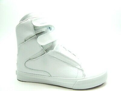 SUPRA SOCIETY II WHITE WHITE RED MEN SHOES SELECT SIZE