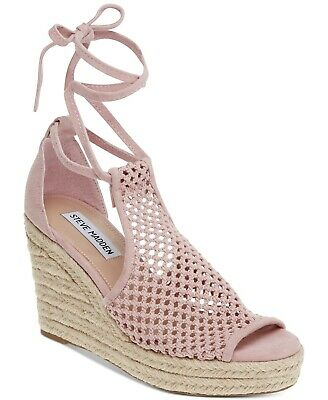 Steve Madden Womens Bambino Fabric Open Toe Special Occasion Blush Size 8-5 sK