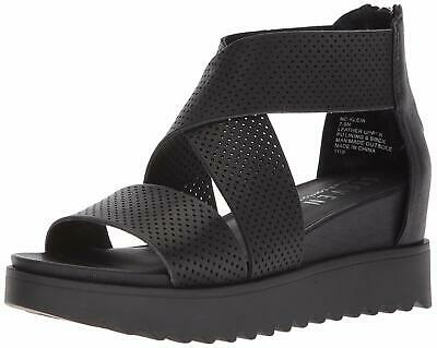 Steven by Steve Madden Womens NC-Klein Leather Open Toe Black Leather Size 6-0