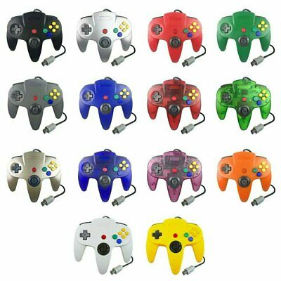 N64 Controller for Nintendo 64 System Gamepad - Jungle Green Gray Black Red Blue
