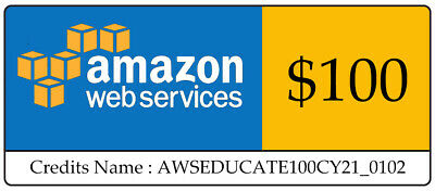 AWS 100 Code Amazon Promocode Credit Web Services Regular 100 Instantly sent
