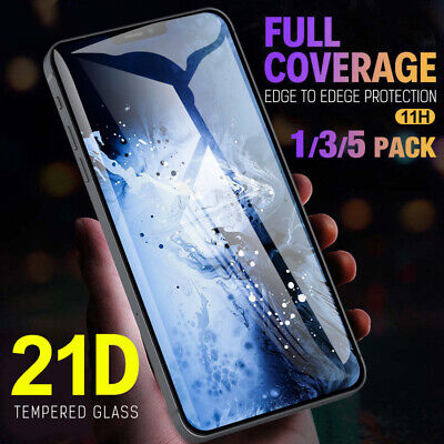 1-5Pack For iPhone 12 Pro Max Mini Full Coverage Tempered Glass Screen Protector