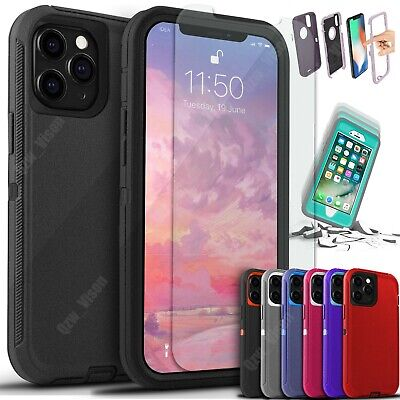 For iPhone 13 12 11 Pro X XR Max 6 7 8 Plus Shockproof Case - Screen Protector