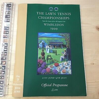 Wimbledon Championships Programme and Centre Court tickets 1999