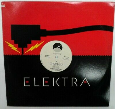 4th Of July by X - 1987 Vinyl LP Record in Elektra Sleeve - Promo
