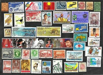 Worldwide UsedMint Stamps - Pictorials A FREE Shipping U-S-