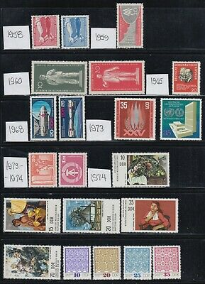 Germany DDR 1958-1975 Mint never hinged Collection