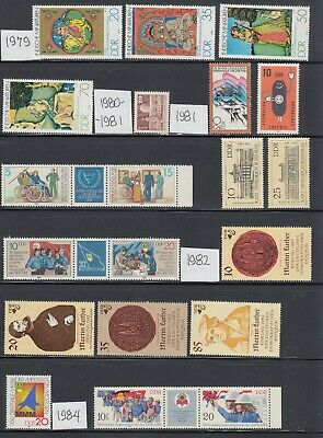 Germany DDR 1979-1988 Mint never hinged Collection