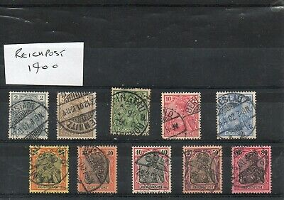 Early German Empire Stamps - Reichpost 1900 used
