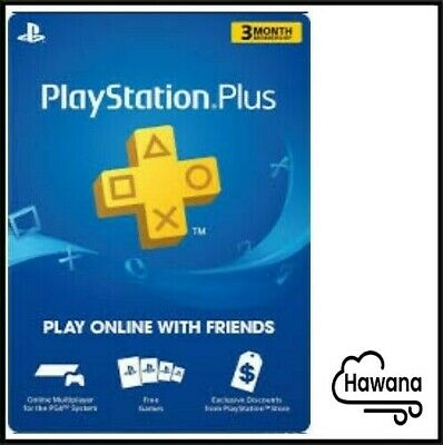 Sony PlayStation PS Plus PSN 3-Month  90 Days Membership Subscription