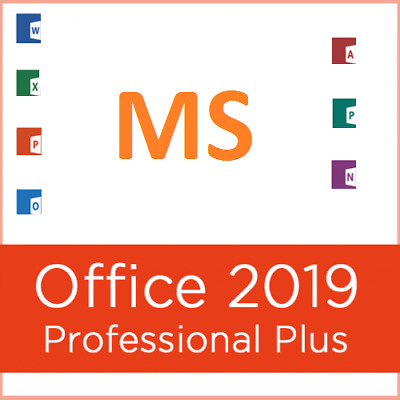 MS Office Pro Plus 2019 - Genuine License 1 PC Install w Disk