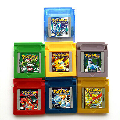Pokemon Crystal Gold Silver Red Blue Yellow Green Gameboy Color GBC
