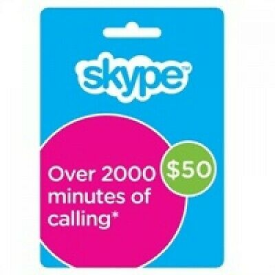 Skype VoucherCredit 50 USD