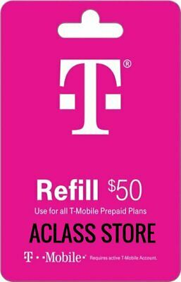 T-Mobile  Prepaid 50 Refill Top-Up Prepaid CardRefillAIR TIME PIN  RECHARGE