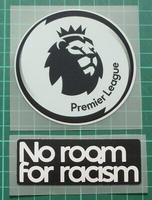 PREMIER LEAGUE PATCH BADGE 2020-2021 - NO ROOM FOR RACISM IRON ON PLAYER SIZE