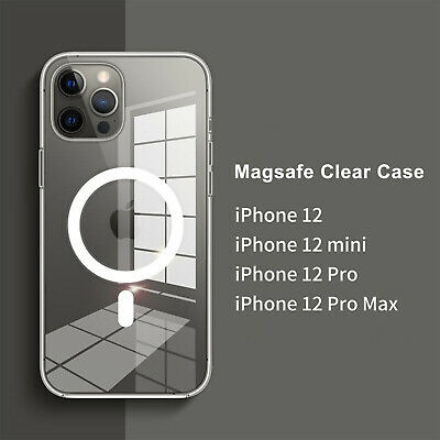 Case For Apple iPhone 12 Mini12Pro Max Mag Safe Clear Magnetic Rigid Back Cover