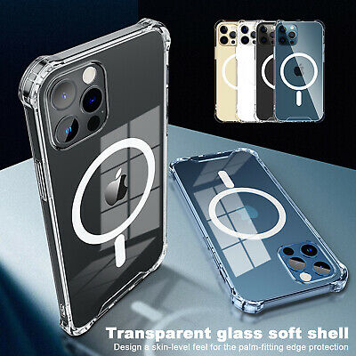 Clear Magnetic Case Mag Safe For Apple iPhone 12 Pro Max 12 Mini 12 Pro 12 Cover
