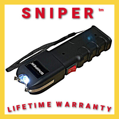 SNIPER Military Grade Stun Gun 675 BV Heavy Duty - Rechargeable LED Flashlight