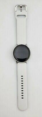 Samsung Galaxy Watch Active SM-R500 40mm Smart Watch Silver Large Gray Band Fair