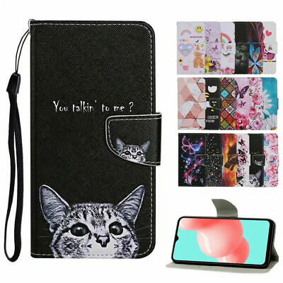 For Samsung S21 Ultra S21- Plus S20 FE 5G Case Painted Flip Wallet Holder Cover